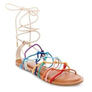 Mossimo Gladiator Rainbow Tie Sandal